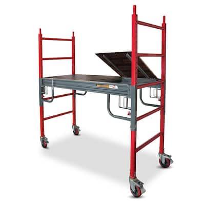 Buildman 6.3 ft. x 6.3 ft. x 2.6 ft. Drywall Baker Scaffold 1500 lbs. Load Capacity