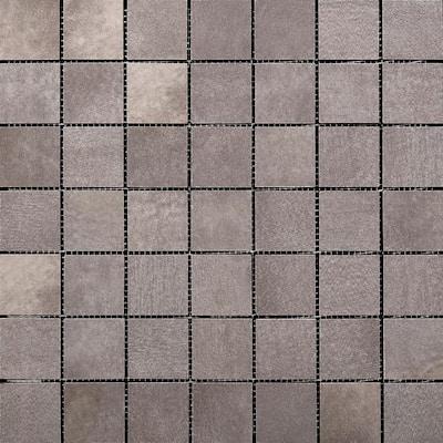 Cosmopolitan Steel 13.03 in. x 13.03 in. x 7 mm Porcelain Mesh-Mounted Mosaic Tile (1.19 sq. ft.)