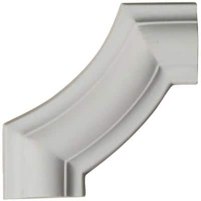 4 in. x 1/2 in. x 4 in. Urethane Ashford Smooth Panel Moulding Corner (matches moulding PML01X00AS)