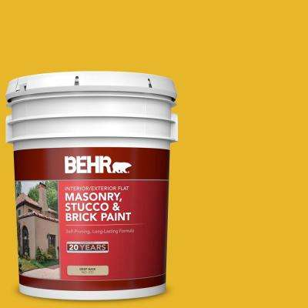 5 gal. #OSHA-6 OSHA Safety Yellow Flat Interior/Exterior Masonry, Stucco and Brick Paint