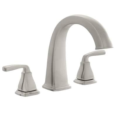 Mason 2-Handle Deck-Mount Roman Tub Faucet in Brushed Nickel