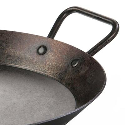 15 in. Carbon Steel Skillet in Black