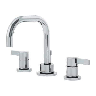 Dia 8 in. Widespread 2-Handle Bathroom Faucet with Drain Assembly in Polished Chrome (1.5 GPM)