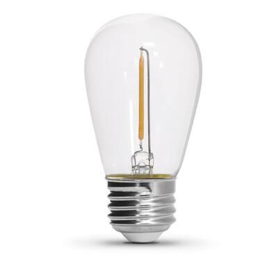 Outdoor/Indoor 20 ft. Plug-In S14 Edison Bulb 10-Socket String Light Set with Shatter Resistant LED (4-Pack)