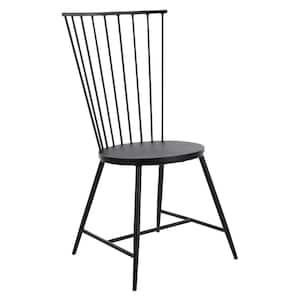 Bryce Black Metal Dining Chair