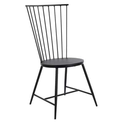Bryce Black Metal Dining Chair
