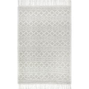 Tabatha Tassel Cream 9 ft. x 12 ft. Area Rug