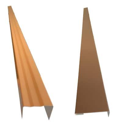2.5 x 2.25 in. x 85 in. Aluminum Metal Brickmold and Jamb Door Trim Cover Kit-36 in. Door w/Siding, Pebblestone Clay