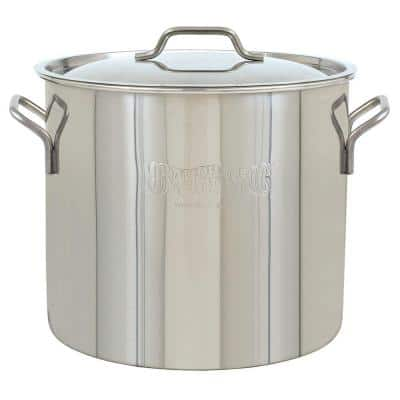 Brew Kettle 40 qt. Stainless Steel Stock Pot with Lid