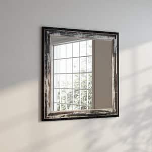 30 in. W x 30 in. H Framed Square Bathroom Vanity Mirror in Ivory