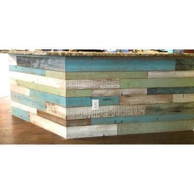 3/8 in. x 4 ft. Random Width 3 in.-5 in. Coastal Collection Reclaimed Planks Decorative Wall Panel (10.59 sq. ft./Pack)