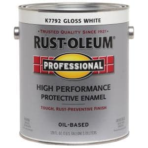 1 gal. High Performance Protective Enamel Gloss White Oil-Based Interior/Exterior Paint (2-Pack)