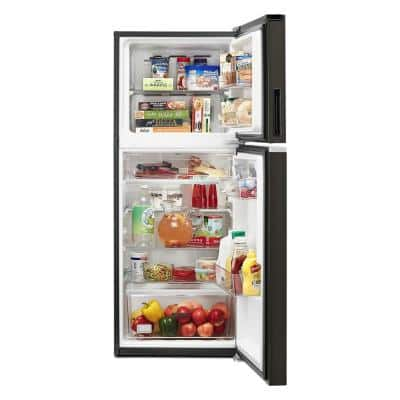 24 in. 11.6 cu. ft. Top Freezer Refrigerator in Print Resistant Black Stainless, Counter Depth, ENERGY STAR