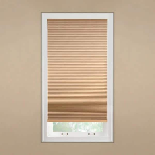 Home Decorators Collection Latte Cordless Blackout Cellular Shade 35 5 In W X 64 In L 10793478962518 The Home Depot