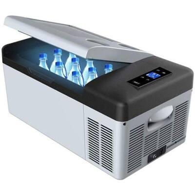 LiONCooler 17 Qt. Battery Powered Chest Fridge Freezer Cooler w/10 Plus Hour Run Time, Recharge Using Solar/DC/AC Power