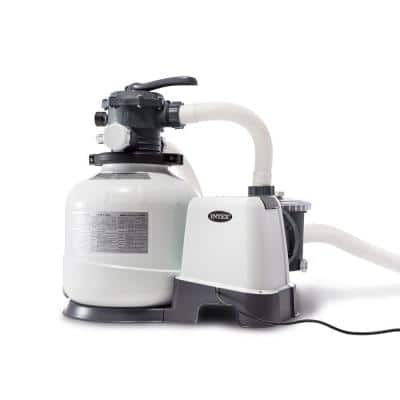 2800 GPH Pool Sand Filter Pump with Krystal Clear Saltwater System