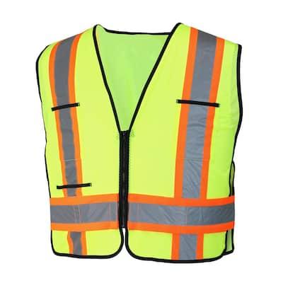 High-Visibility 2-Tone Reflective Safety Vest