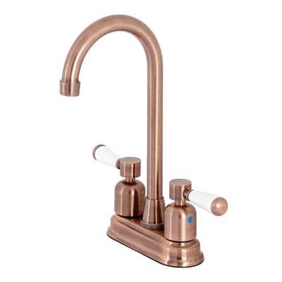 Paris 2-Handle Bar Faucet in Antique Copper