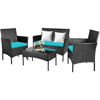 Bamboo Outdoor Lounge Furniture, Bamboo Patio Furniture Set
