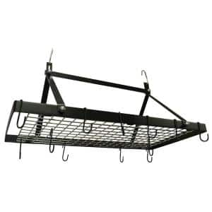 Black Enamel Pot Rack Rectangle