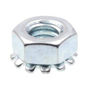 Everbilt 1 4 In 20 Zinc Plated Nylon Lock Nut 100 Pack 800312 The Home Depot