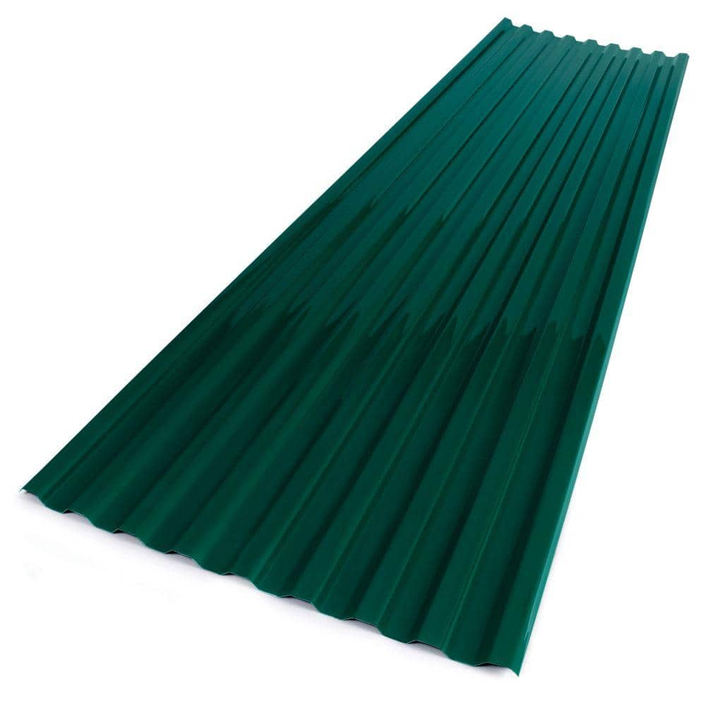Suntuf 26 In X 12 Ft Polycarbonate Corrugated Roofing Panel In Green 102004 The Home Depot