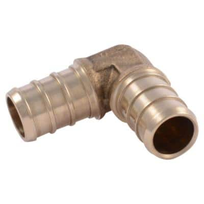 1/2 in. PEX Barb Brass 90-Degree Elbow Fitting