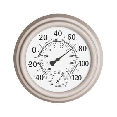 Indoor/Outdoor 8 in. Waterproof Wall Thermometer and Hygrometer