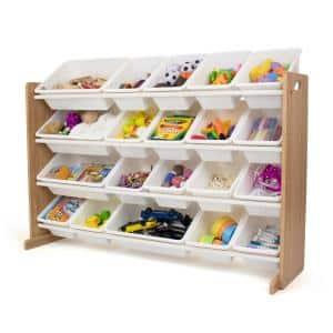 Journey Natural/White Extra Large Toy Storage Organizer with 20 Storage Bins