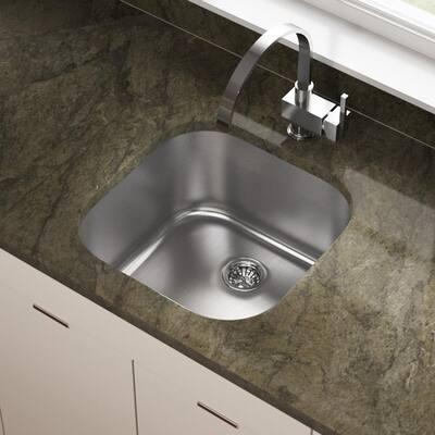 Stainless Steel 20 in. Undermount Bar Sink