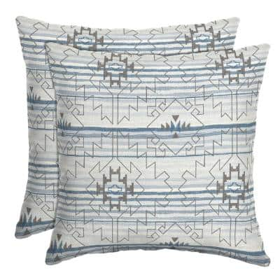 16 in. x 16 in. Carmen Southwest Outdoor Throw Pillow (2-Pack)