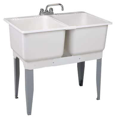 36 in. x 34 in. Plastic Laundry Tub