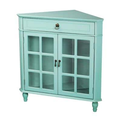 Blue 30 36 Accent Cabinet Office Storage Cabinets Home Office Furniture The Home Depot