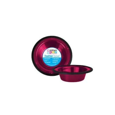 SwitchIN 0.75 Cup Stainless Steel Diner Feeder Replacement Dog/Cat Bowl in Raspberry Pop