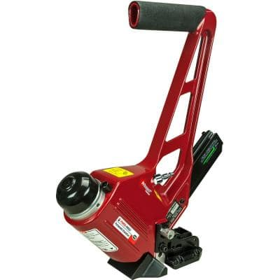 Pneumatic 18-Gauge Hardwood and Bamboo Floor Nailer with Adjustable Shoe for L-Cleat Nails