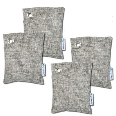 Air Purifying Bamboo Charcoal Bag, 3.5 oz (4-Pack)