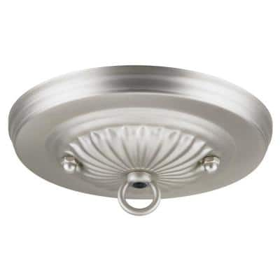 5 in. Brushed Pewter Traditional Canopy Kit for Ceiling Light Fixtures