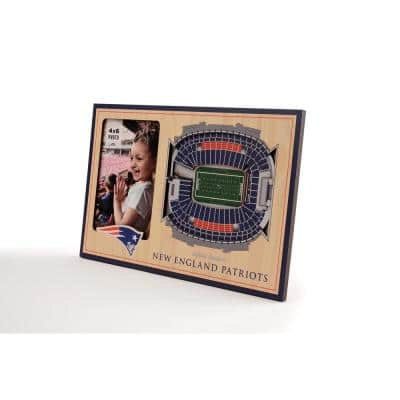 NFL New England Patriots Team Colored 3D StadiumView with 4 in. x 6 in. Picture Frame