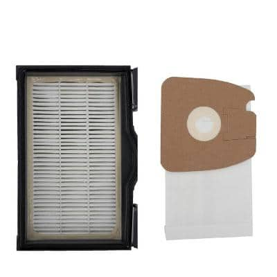 12 in. HEPA Filter and 3 Vacuum Bags for Eureka MM, Mighty Mite SC3683 3681B-1 S3681