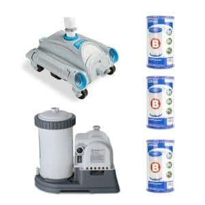 Adapter B w/Collar Robotic Cleaner (Pair) + 2500 GPH Filter + 6 Type B Replacement Filter