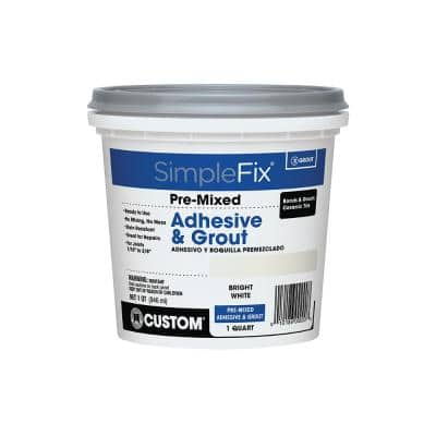 SimpleFix White 1 Qt. Pre-Mixed Adhesive and Grout
