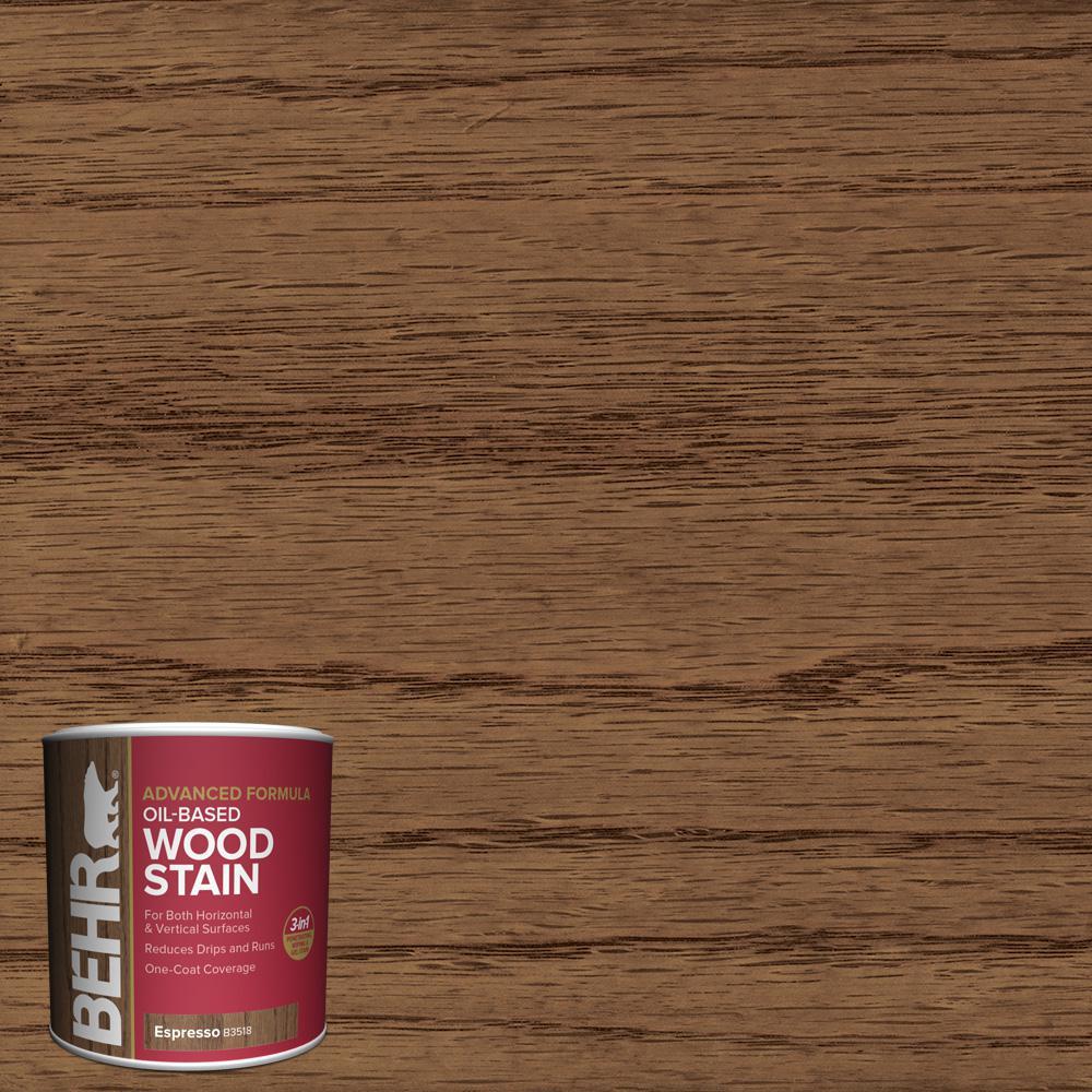 8 oz. #TIS-518 Espresso Transparent Oil-Based Advanced Formula Interior Wood Stain
