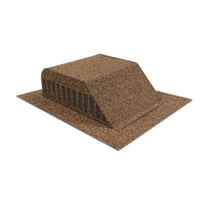 60 sq. in. Granule-Coated Aluminum Slant Back Static Roof Vent in Brown
