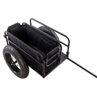 EV Bicycle Cargo and Surfboard Trailer with Black Cover