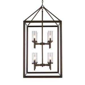 Smyth 8-Light Gunmetal Bronze Pendant with Clear Glass