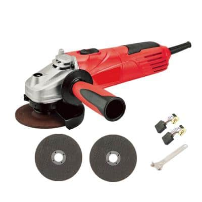 4.8 Amp Red Corded 4-1/2 in. Angle Grinder Polisher with Adjustable Handle