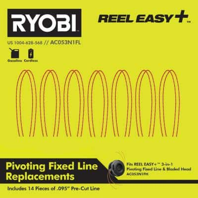 REEL EASY+ .095 Pivoting Fixed Line Replacements(14-Pieces)