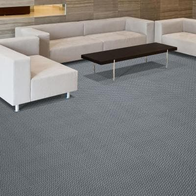 Peel and Stick First Impressions Metropolis Oatmeal 24 in. x 24 in. Commercial Carpet Tile (15 Tiles/Case)