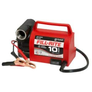 12-Volt 1/5 HP 10 GPM Portable Fuel Transfer Pump with No Accessories (Pump Only)