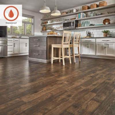 Outlast+ 7.48 in. W Somerton Auburn Hickory Waterproof Laminate Wood Flooring (19.63 sq. ft./case)